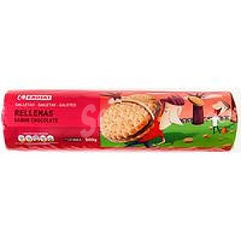 Eroski Basic Galleta rellena de chocolate Paquete 500 g