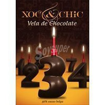 Xoc & Chic Vela de chocolate Nº 3 Pack 1 unid