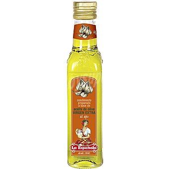 La Española Aceite de oliva virgen extra al ajo  Botella 250 ml