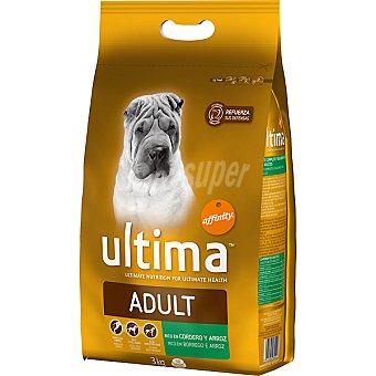 AFFINITY ULTIMA ADULT Rico en cordero y arroz para perro bolsa 3 kg Bolsa 3 kg