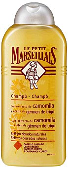 Le Petit Marseillais Champú con extractos de camomila, reflejos dorados naturales 300 Mililitros