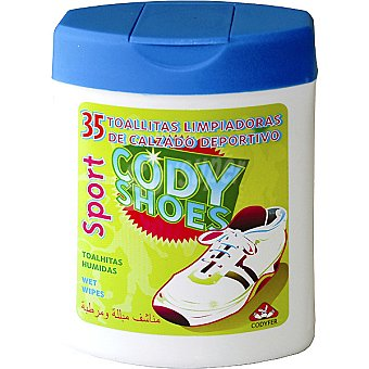 CODYFER Cody Shoes Toallitas limpiadoras de calzado deportivo frasco 35 unidades Frasco 35 unidades