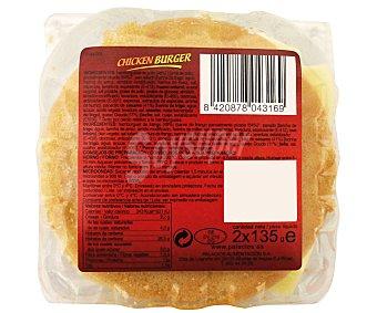 Palacios Chicken Burguer Pack 2 Unidades de 135 Gramos