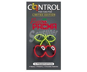 Control Preservativos de edición limitada 4 nature 4 finissimo 2 chocolate 10 unidades
