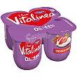 Yogur desnatado con trozos de fresa Pack 4 unidades 125 g Vitalínea Danone