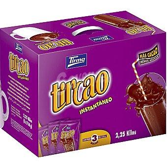 Tirma Cacao instantáneo Tircao Pack 3 bolsas de 750 g (envase 2,25 kg)