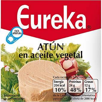Eureka Atún en aceite vegetal Lata 80 g neto escurrido