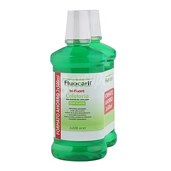 Fluocaril Colutorio para enjuague con flúor 2x500 Mililitros