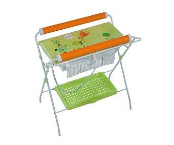 PLASTIMYR Bañera cubeta flexible, con bandeja para accesorios, color pistacho