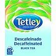 Te descafeinado Black Tea Caja 10 bolsas Tetley