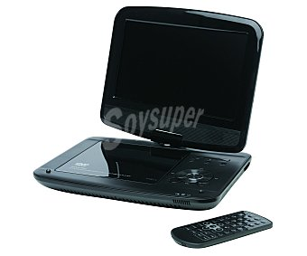 "QILIVE Q1205 Reproductor DVD portátil Multiformato, pantalla 9"" giratoria, USB"