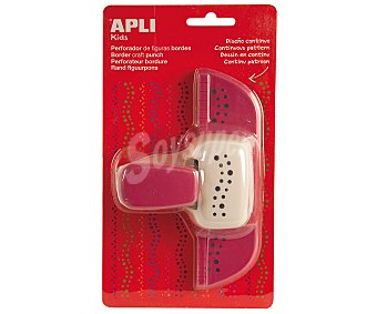 APLI Perforadora lateral con forma de puntos, de color turquesa y de 25.4 milímetros 1 unidad