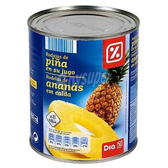 DIA Piña en su jugo rodajas Lata 490 gr