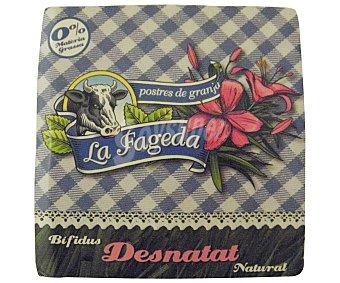 La Fageda Bífidus desnatado natural Pack 4x125 g