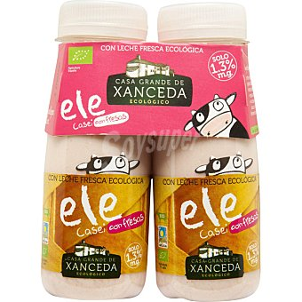 Casa Grande de Xanceda Yogur líquido L. Casei 1,3 % materia grasa con fresas con leche fresca biológico pack 2 envase 165 g pack 2 envase 165 g
