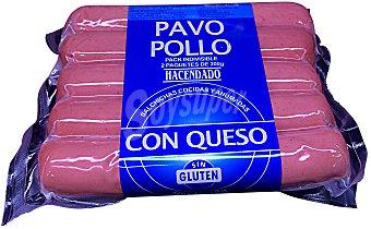 Hacendado Salchicha pavo/pollo queso 2 x 200 g