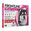 Solución contra garrapatas y pulgas para perros perros envase 3 unidades 40-60 kg Frontline