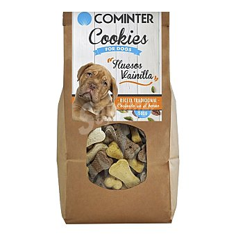 Cominter Snacks para perros Cookies For Dogs Huesos Vainilla Envase 500 g