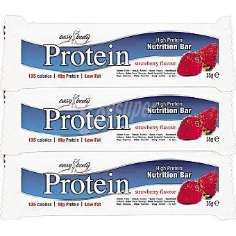 QNT Protein Bar barritas energéticas sabor de fresa  pack 3 unidad 35 g