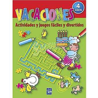 Cuaderno de Vacaciones: Actividades y juegos fáciles y divertidos +4 años