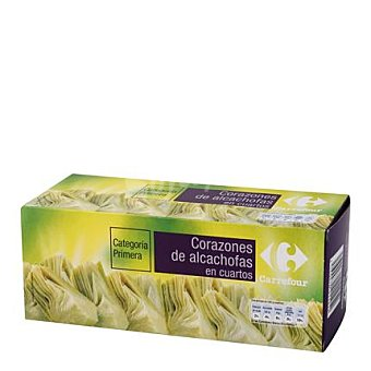 Carrefour Cuartos de corazones de alcachofa de primera Pack 3x125 g