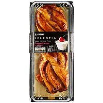 Eroski Seleqtia Trenza de queso con cerezas Eroski 450 g