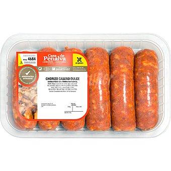 CASA DE PENALVA Chorizo casero dulce peso aproximado Bandeja 450 g