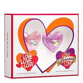 Agatha Ruiz de la Prada Estuche 2 colonias spray Love Forever y Love Love 1 ud