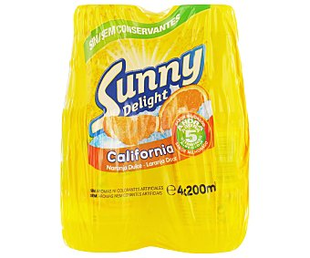 Sunny Delight Refresco naranja California Pack 4x200ml