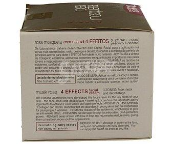 Babaria Crema facial rosa mosqueta 4 efectos  Tarro 125 ml