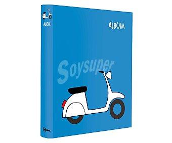 HOFMANN Álbum de fotos, con fondo azul y una vespa de color blanco 1 unidad