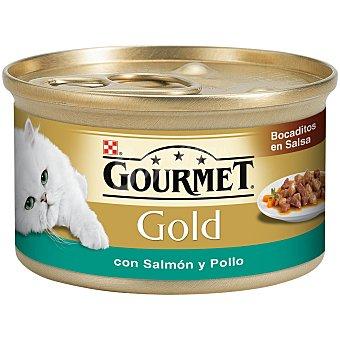Gourmet Comida húmeda para gatos adultos Gourmet Gold Bocaditos en salsa salmón y pollo 85 gr 85 gr