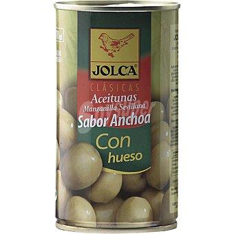 Jolca Aceitunas manzanilla sabor anchoa Lata 190 g neto escurrido