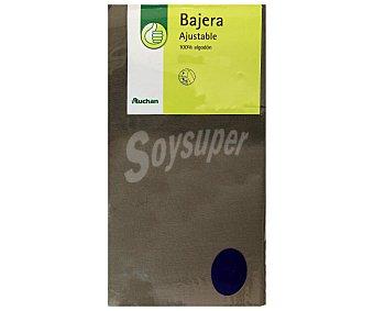 PRODUCTO ECONÓMICO ALCAMPO Sábana bajera 100% algodón, color gris piedra 30x22x135 centímetros 1 Unidad