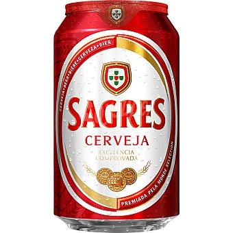 Sagres Cerveza rubia portuguesa Lata 33 cl
