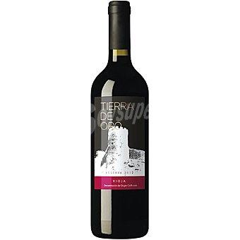 TIERRA DE ORO Vino tinto reserva D.O. Rioja elaborado para grupo El Corte Inglés Botella 75 cl