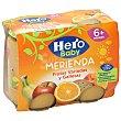 Baby merienda frutas variadas y galleta maría Pack 2 x 190 g Hero
