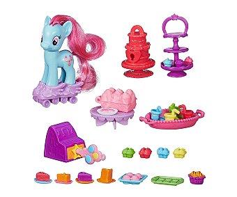 My Little Pony Playset de juego con más de 20 accesorios y 1 poni La Cafetería de los Ponis, 1 unidad