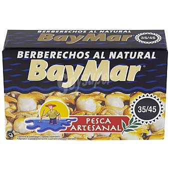 Baymar Berberechos al natural 34/45 sin lactosa 58 g