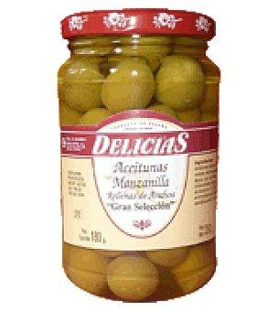 Aceitunas Agrupers Aceitunas rellenas anchoa delicias 180 g