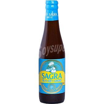 Sagra Piel de Limón y Cardamomo cerveza rubia de trigo botella 33 cl Botella 33 cl