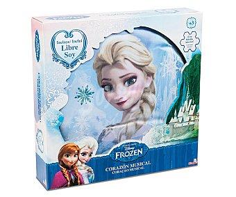 Disney Cojín con Forma Redonda y Música de la Película Frozen 1 Unidad