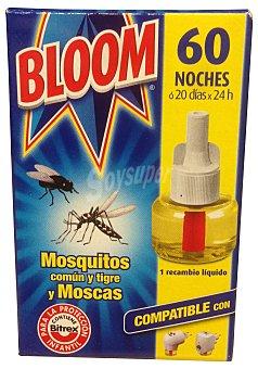 BLOOM INSECTICIDA ELECTRICO LIQUIDO 60 NOCHES RECAMBIO u 23 cc