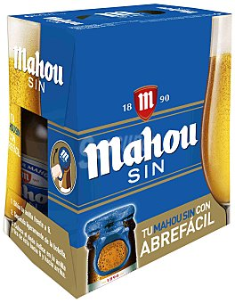 Mahou Cerveza sin alcohol Pack 6 botellines x 25 cl