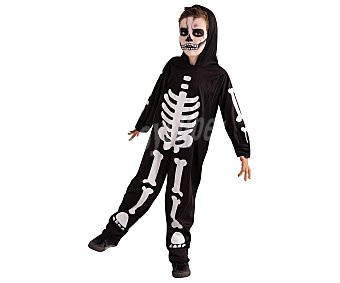 Rubie's Disfraz infantil de esqueleto que brilla en la oscuridad. Talla: S 3-4 años, RUBIE´S