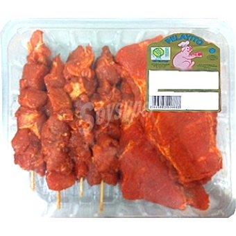 Pelayito costillas adobadas y pinchos adobados de cerdo peso aproximado bandeja 1 kg