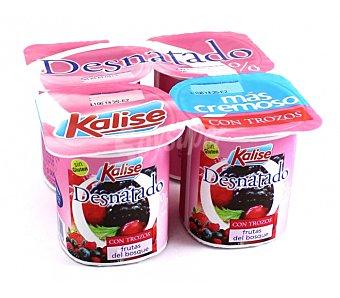 Kalise Yogur Desnatado con Frutas del Bosque 4 Unidades de 125 Gramos
