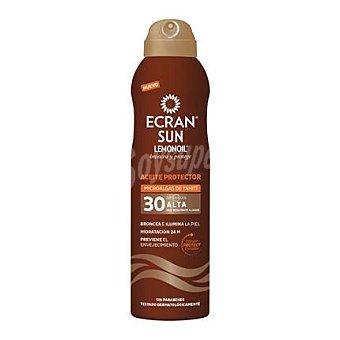 Ecran Aftersun Aceite protector Sun Lemonoil con microalgas de Tahití FP 30 250 ml