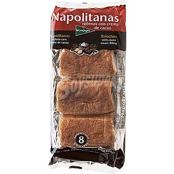 El Corte Inglés Napolitanas de chocolate Paquete 240 g