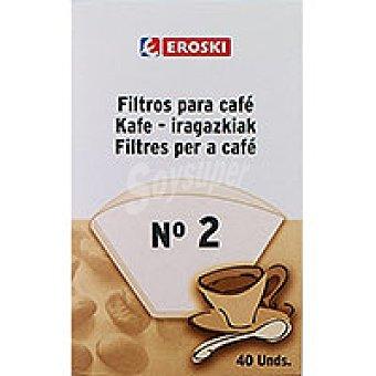 Eroski Filtro cafetera 1X2 40u